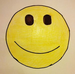 A smiley face that my daughter, Lydia, drew for me